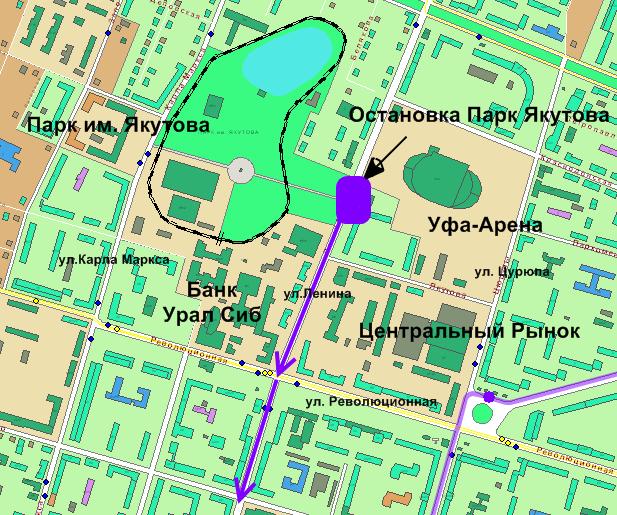 """""""Уфа-Арена"""" и """"Парк им."""